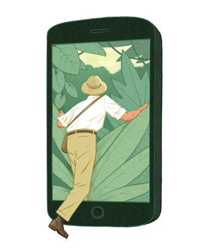 Jori Bolton - Illustration for Scientific American - Navigating the Tech Jungle