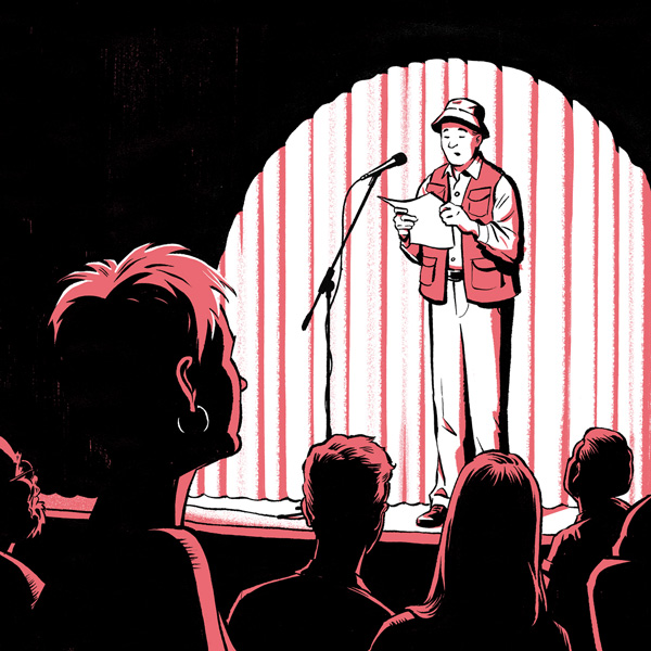 Globe and Mail Illustration by Jori Bolton - Poetry Night