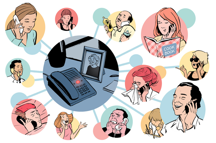 Phone call illustration by Jori Bolton for the Weekly Standard