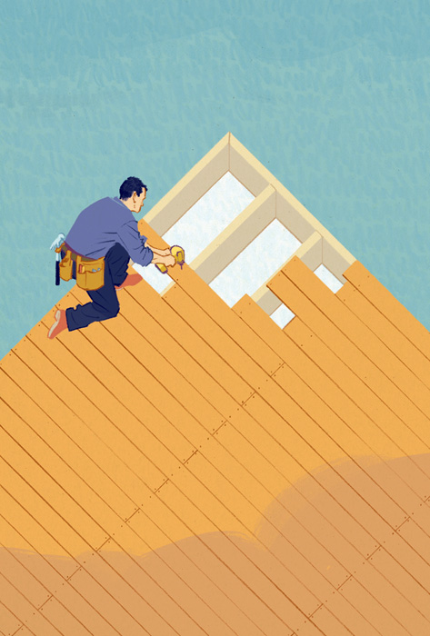 Jori Bolton - Globe and Mail Illustration - Building a Deck