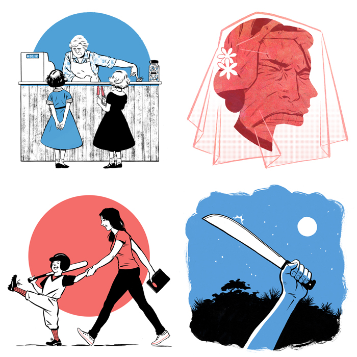 Illustrations by Jori Bolton for the Globe and Mail, Facts & Arguments